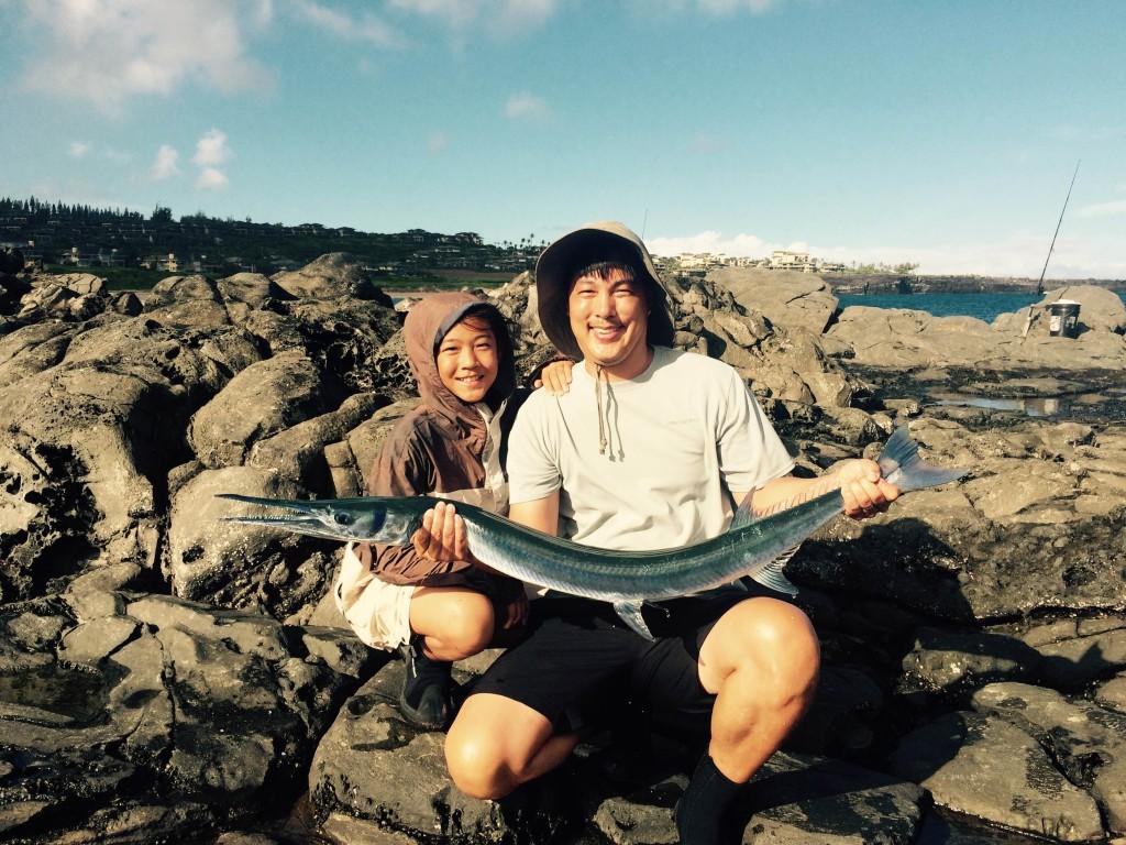 The poor man 39 s marlin maui shore fishing guides maui for Maui shore fishing